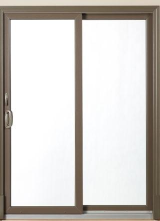 contemporary sliding patio door